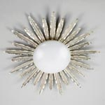 CL0161.SI Sunburst Flush Ceiling Light потолочный светильник Vaughan