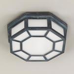 CL0209.ZI Hunton Octagonal Flush Ceiling Light потолочный светильник Vaughan
