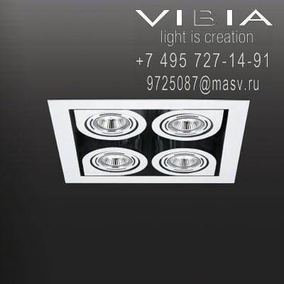 Vibia CORNER 4 x QR111 12V 60W ALU 24º (REFLECTOR WITHOUT GLASS) br 4 x <strong>Master</strong> LEDspotLV AR111 D 15-75W WH 24D