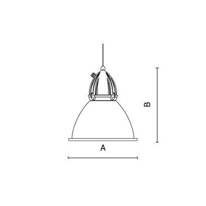 чертеж ARA Arcluce подвесной светильник 0234002A-21