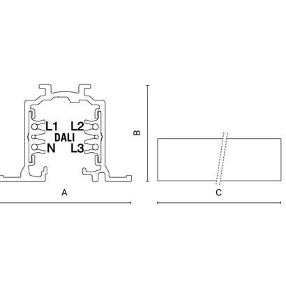 чертеж TRAC-line - Electrified Dali Arcluce трек и светильники 0191004X-11
