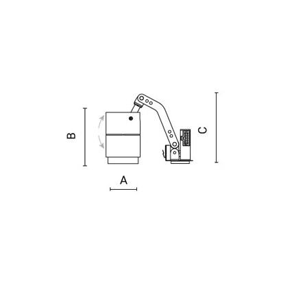 чертеж CORSO100 Arcluce модульный светильник 0301010A-930-12