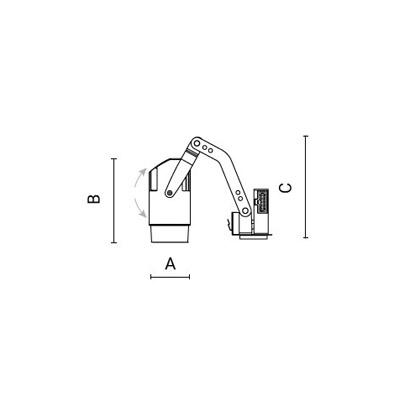 чертеж CORSO100 Arcluce модульный светильник 0301007A-930-12