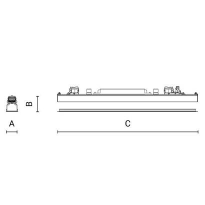 чертеж CORSO50 Arcluce модульный светильник 0303012A-830-12