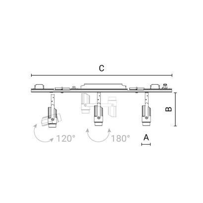чертеж CORSO50 Arcluce модульный светильник 0303011A-930-12