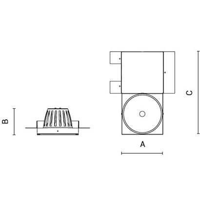 чертеж CREA Arcluce модульный светильник 0117006A-830-21