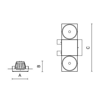 чертеж CREA Arcluce модульный светильник 0117007A-830-21
