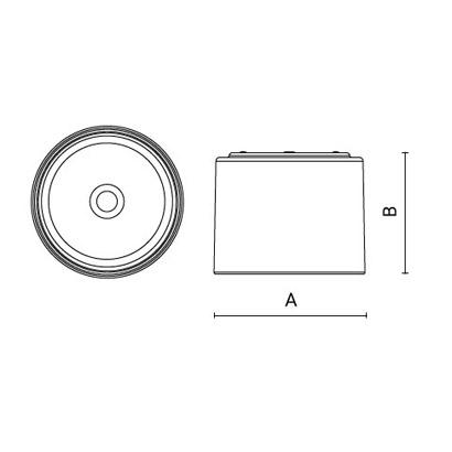 чертеж DEMO230 Arcluce потолочный светильник 0263016A-840-11