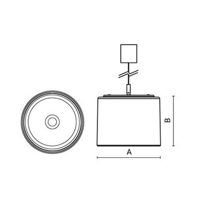 чертеж DEMO230 Arcluce подвесной светильник 0263039A-11