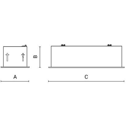 чертеж HIGH-SPOT-IN std Arcluce встраиваемый светильник 0336035A-840-11