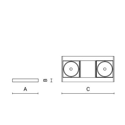 чертеж HIGH-SPOT Arcluce подвесной светильник 0238003A-830-21