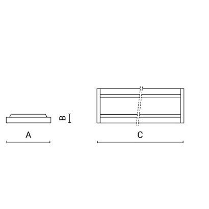 чертеж LAMBDA Arcluce модульный светильник 0119019A-830-11
