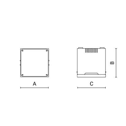 чертеж MOTO3 Arcluce складской светильник 0253005A-840-21