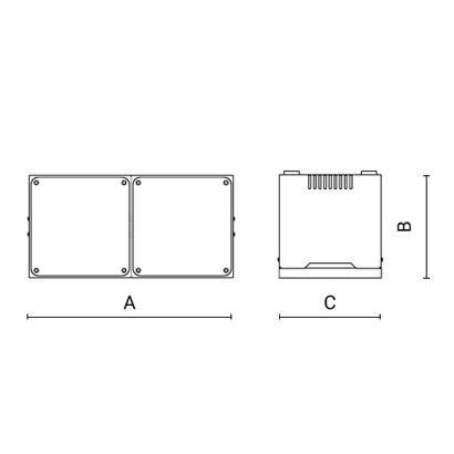 чертеж MOTO3 Arcluce складской светильник 0253006A-840-21