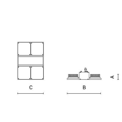 чертеж NADIR Arcluce складской светильник 0265004A-840-16