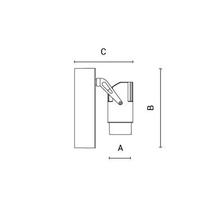 чертеж OPERA Arcluce настенный светильник 0135004A-930-12