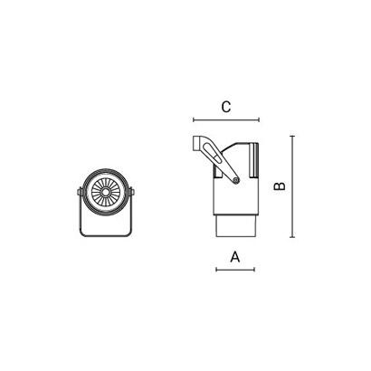 чертеж OPERA Arcluce настенный светильник 0135008C-930-12