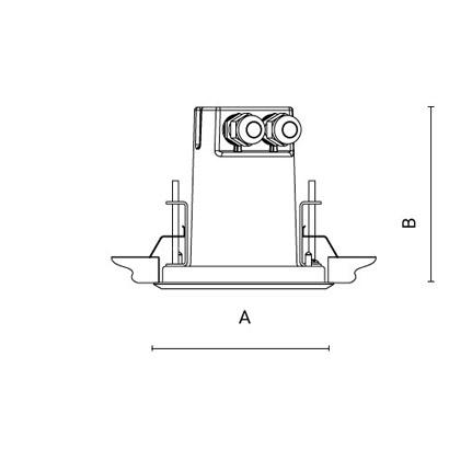 чертеж RAY110 Arcluce встраиваемый светильник 0328001A-21
