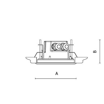 чертеж RAY110 short Arcluce встраиваемый светильник 0326015C-840-21