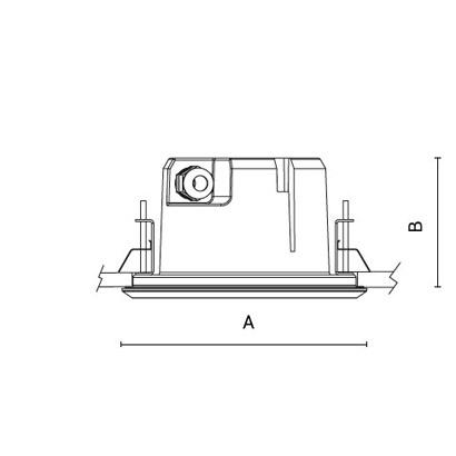 чертеж RAY180 short Arcluce встраиваемый светильник 0327011C-30