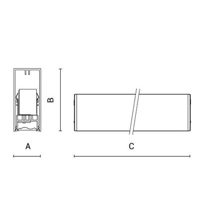 чертеж RIGO30 Arcluce модульный светильник 0131018A-830-11