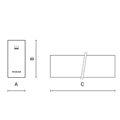 чертеж RIGO30 Arcluce потолочный светильник 0131062A-830-11