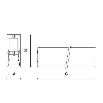 чертеж RIGO30 Arcluce модульный светильник 0131015A-830-11