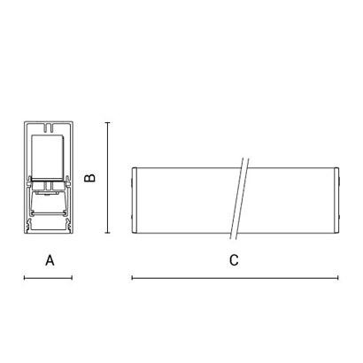 чертеж RIGO30 Arcluce модульный светильник 0131017A-830-11