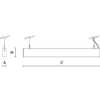 чертеж RIGO30 Arcluce подвесной светильник 0131060A-830-11