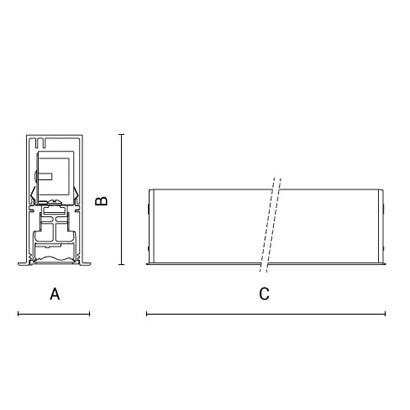чертеж RIGO-IN30 Arcluce модульный светильник 0350008A-830-11