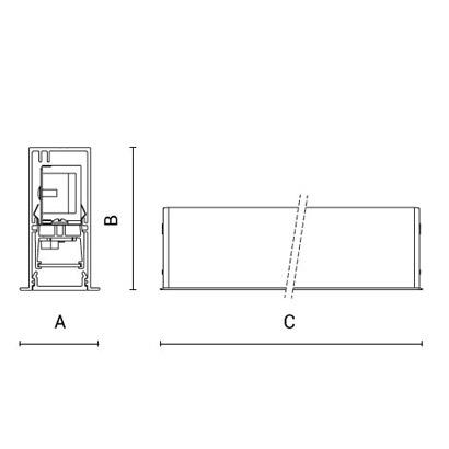 чертеж RIGO-IN30 Arcluce модульный светильник 0350007A-830-11