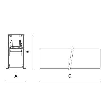 чертеж RIGO-IN50 Arcluce встраиваемый светильник 0351057A-830-11
