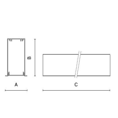 чертеж RIGO-IN50 Arcluce модульный светильник 0351001C-11