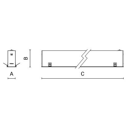 чертеж RIGO-IN GCO50 Arcluce встраиваемый светильник 0351035A-830-11