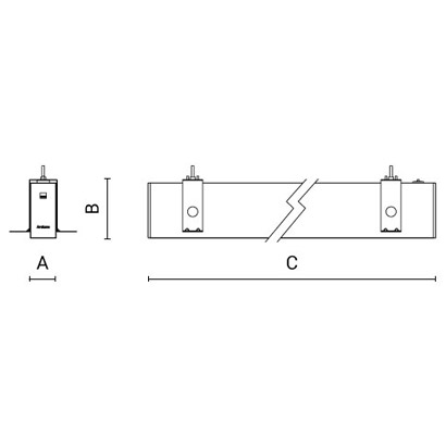 чертеж RIGO-IN GCO50 Arcluce встраиваемый светильник 0351053A-830-11