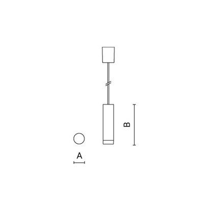 чертеж STILO Arcluce подвесной светильник 0230037A-830-11