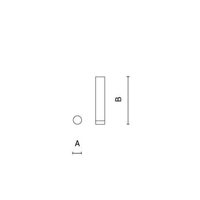 чертеж STILO Arcluce потолочный светильник 0261025A-830-11
