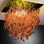 AXO Light AURA PLAURA45ARORE27 потолочный светильник оранжевый