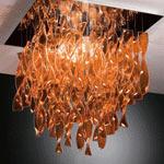 AXO Light AURA PLAURAGRARCRE27 потолочный светильник оранжевый