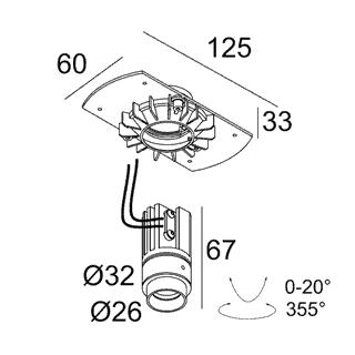 чертеж MOUNTING KIT TRIMLESS MICROSPY IN OK + MICRO SNAP-IN OK Delta Light встраиваемый в потолок светильник