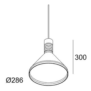 чертеж MILES C1 PINK Delta Light подвесной потолочный светильник
