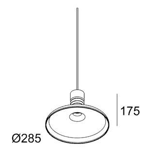 чертеж MILES C2 SMOKE Delta Light подвесной потолочный светильник