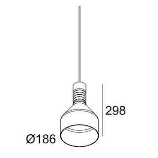 чертеж MILES C3 PINK Delta Light подвесной потолочный светильник