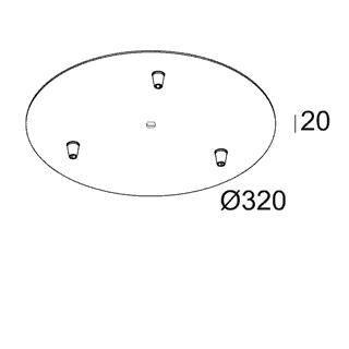чертеж MILES CEILING BASE 3R Delta Light аксессуар