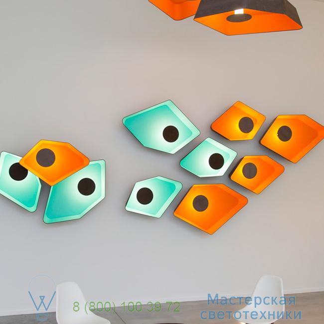 фотография Petit Nnuphar DesignHeure turquoise, L90cm настенный светильник A90nledmt 3