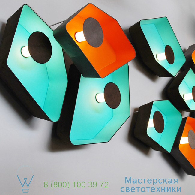 фотография Petit Nnuphar DesignHeure turquoise, L90cm настенный светильник A90nledmt 6