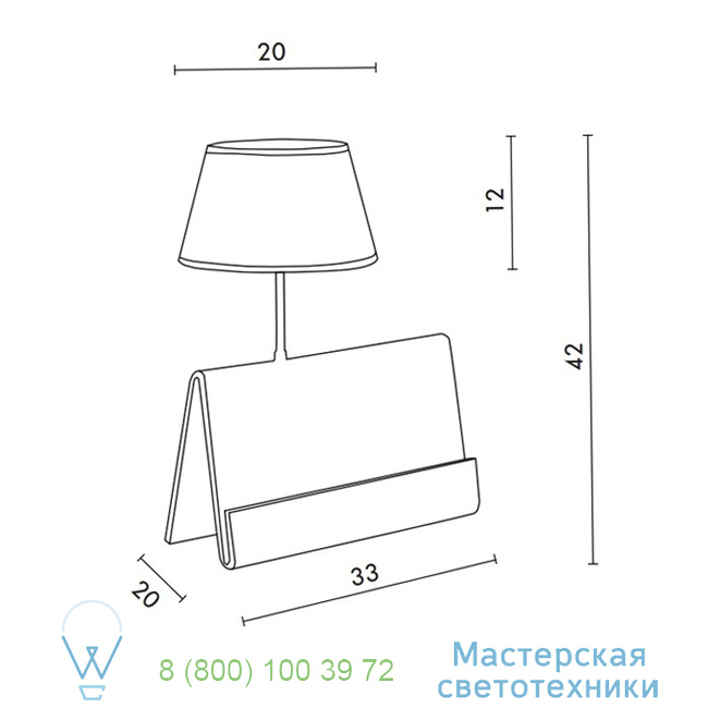 фотография L'Empirique DesignHeure transparent, H42cm настольная лампа Lpeb 3