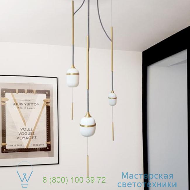 фотография Fleur de Kaolin DesignHeure brass, 28cm, H120cm подвесной светильник Su3fk1g1m1p120 0