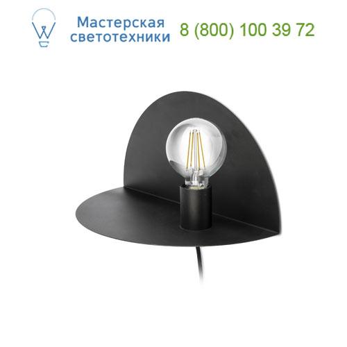 01006 Nit, APLIQUE NEGRO E27 20W, 1 X E27 20W, накладной светильник, Faro Barcelona, Испания