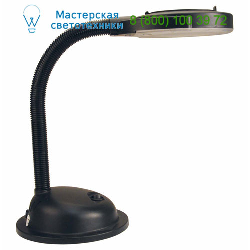 50064 Lente, FLEXO NEGRO CON LUPA 1 x G10q T4 12W, 1 x G10q T4 12W, офисный светильник, Faro Barcelona, Испания